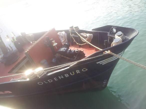 MS Oldenburg antes de zarpar hacia Lundy